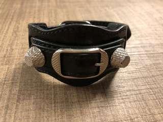 Balenciaga Giant City Bracelet in Black (M size)
