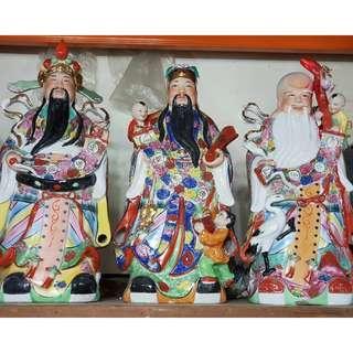 Fu Lu Shou 1ft (W) X 2ft (H) Statue $18