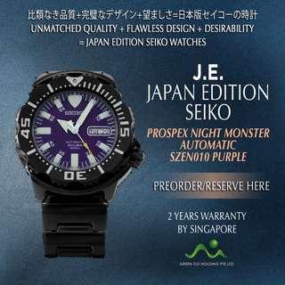 SEIKO JAPAN EDITION PROSPEX AUTOMATIC PURPLE KNIGHT MONSTER SZEN010 LIMITED EDITION
