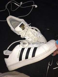 Adidas superstars size us 5 euro 37.5