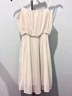 Forever 21 white flowy dress