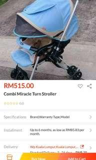 Combi miracle turn stroller