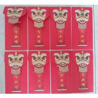 SALE 2019 Prudential Red Packet Ang Bao 8 pieces Lion design