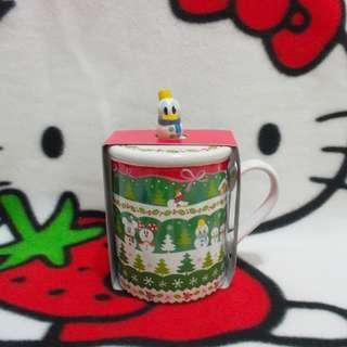 Donald Duck 唐老鴨 雪人 有耳陶瓷杯