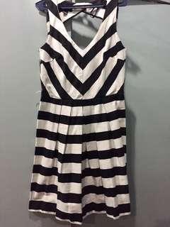 Black n white stripe dress