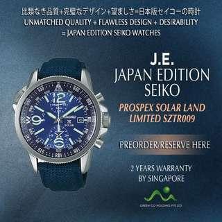 SEIKO JAPAN EDITION PROSPEX SOLAR LAND BLUE SZTR009 LIMITED EDITION