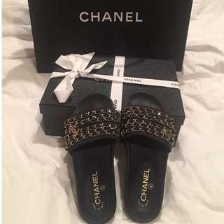 Chanel marine slides gold hardware