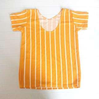 Yellow Stripes Top