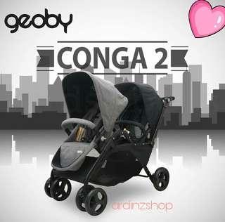 Stroller Twins Cocolatte Geoby Conga 2