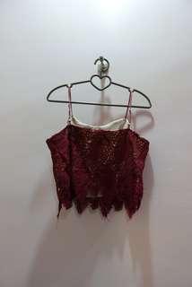 [PL] Lace Crop Top