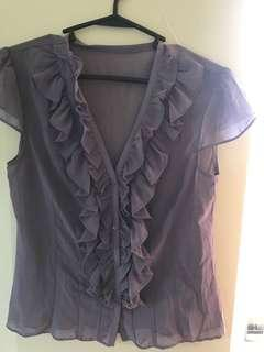 Chiffon sheer top