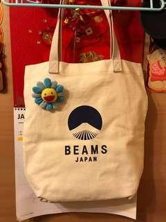 Beams Japan tote bag with kaikai kiki cdg wtaps nbhd
