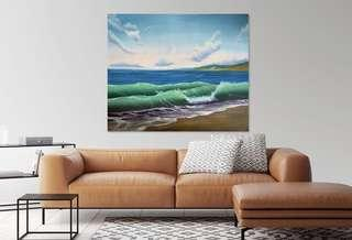 🚚 Wave. Oil painting. Original artwork