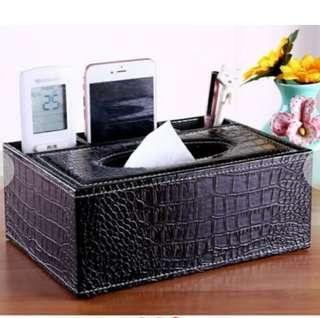 ★ Remote Control / Tissue Box Holder ★ Case Cover / Classic Elegant Stylish Sleek Minimalist Leather