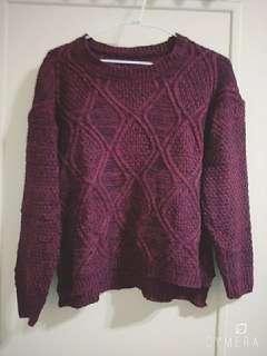 🚚 酒紅針織毛衣#半價衣服拍賣會