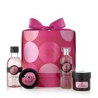 The Body Shop british rose set