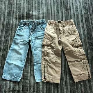2 pairs DkNY pants for boys
