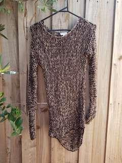 Witchery loose knit brown and black jumper. XS