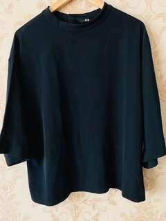Atasan Uniqlo- Dark Blue - Size L