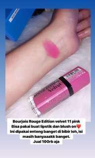 Liptin Bourjois pink