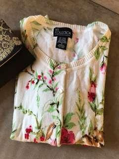 Soft floral sweater