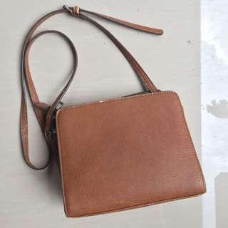 Stradivarius brown sling bag