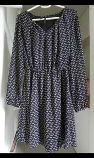 Mango long sleeve dress