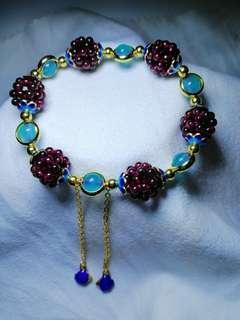 Handcraft Red Garnet Crystal bracelet