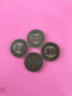 1927 George v king 20cents coin(4 PCs)
