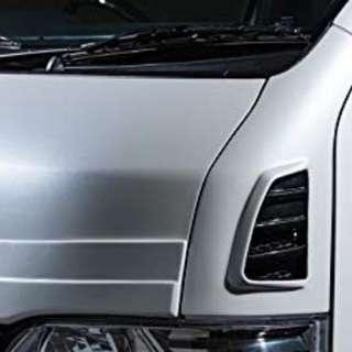 CNY SALES: Zeus Front vented fenders for all versions Hiace. Euro 3-6 std and hi roof.