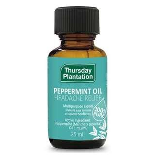 🚚 [FREE MAIL]25ml Peppermint Oil Thursday Plantation