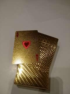 24k gold poker card