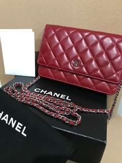 Chanel burgundy woc with SHW