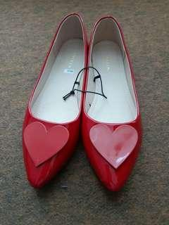 Red flat shoes Vincci - NEW