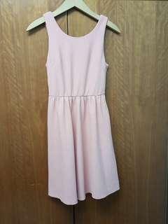 Cross strip Back side Dress