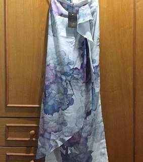Hannabella blue/purple skirt with front frills