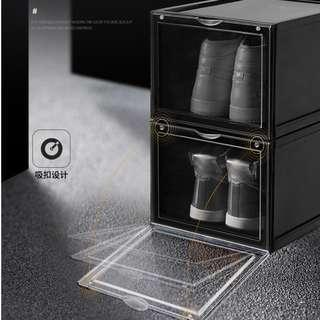 AJ Acrylic Black Shoe Storage Box