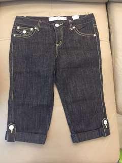 Cropped knee length giordano demin ($12, retail $39) waist size 27