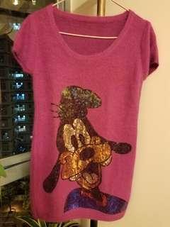 粉紅色閃片羊毛冷衫