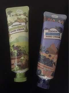 Hand creams-Green grapes and Blueberry scents