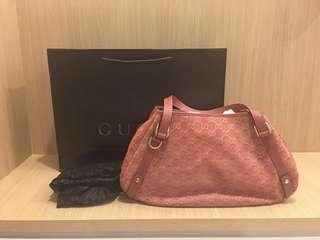 Gucci Borsa Abbey Pink Suede Bag