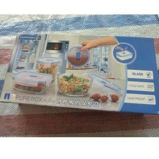 🚚 Luminararc樂美雅玻璃保鮮盒 A