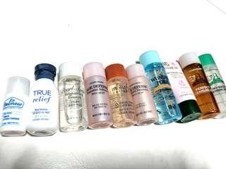 Etude House Travel / Sample for True Relief / Age Defense / Moistfull Collagen / Wonder Pore / Age Defense / AC Cleanup / Real Art