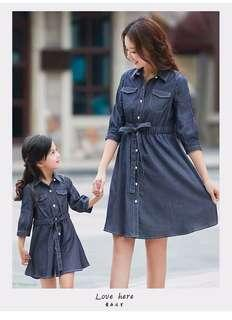 Brand New Mother and Daughter Set 💕 Denim Dress