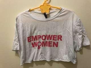 H&M Empowered Women Crop Top