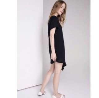 Wild Peonies Sika Dress (Black)