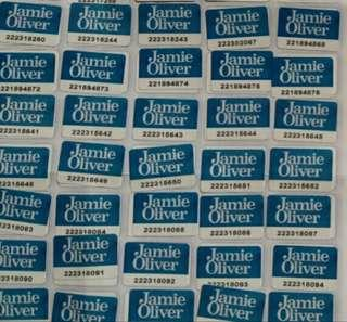 Jamie Oliver  $1個,100個起賣,有500個,西鐵交收
