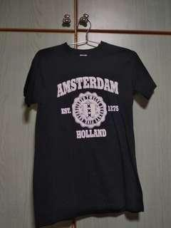 Black/White Amsterdam T-shirt from Amsterdam, Holland