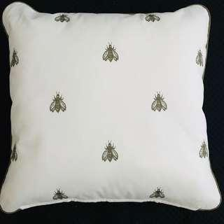 [NEW] IKEA Embroidery Insects Cotton Cushion