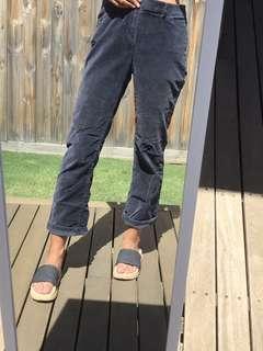 Velvet blue pants
